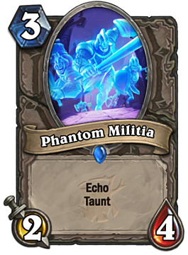 Phatom Militia card in Hearthstone The Witchwood expansion