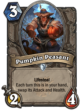 Pumpkin Peasant card in Hearthstone Witchwood
