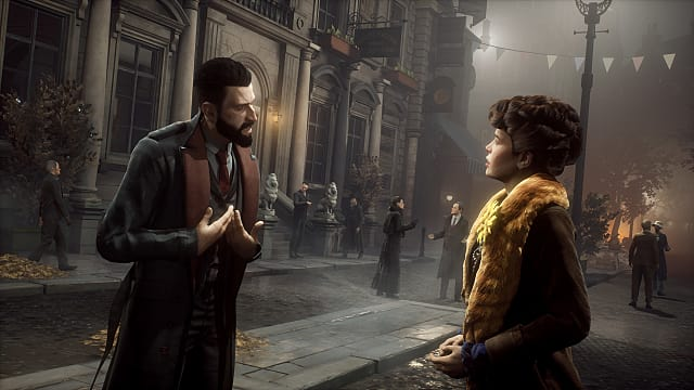 Vampyr Talking to a Citizen
