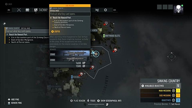 Howard Port map location Ghost Recon Breakpoint