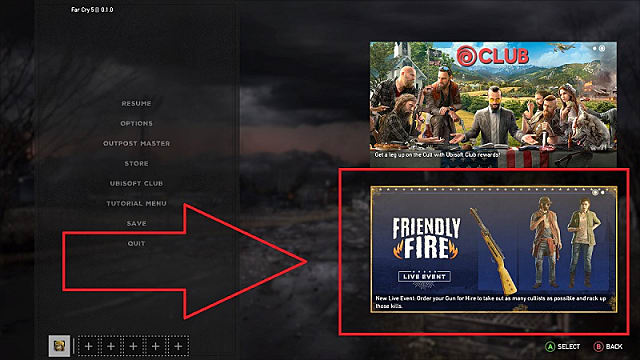 Activating The Friendly Fire Far Cry 5 Event