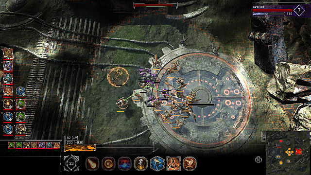 top-down view of action in Golem Gates