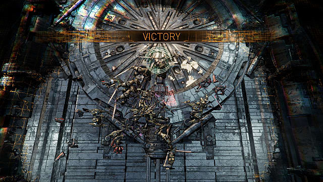 Victory screen from Golem Gates