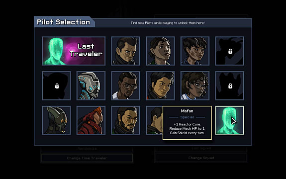 Unlocking the Into the Breach secret pilots