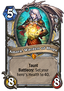 hearthstone, taunt, amara, warden of hope