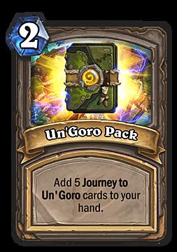 hearthstone, un'goro pack