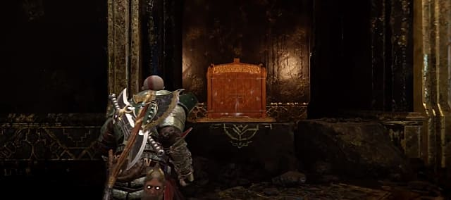 God of War's Shores of the Nine shrine
