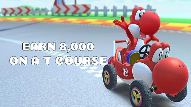 Mario Kart Tour Earn A Score Of 8 000 On A T Course Mario
