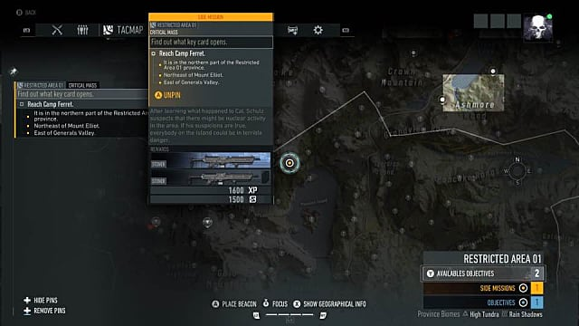 Camp Ferret map location Ghost Recon Break Point