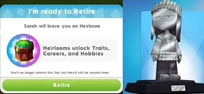 The Sims Mobile Aging, Retirement, and Heirlooms Guide | The Sims Mobile