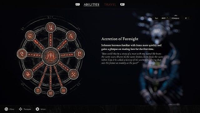 Solomon's abilities and skills wheel.