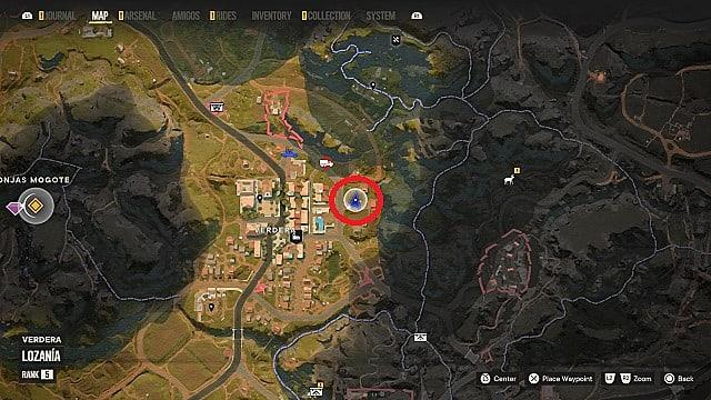 Map of Acero's location in Verdera, Lozania