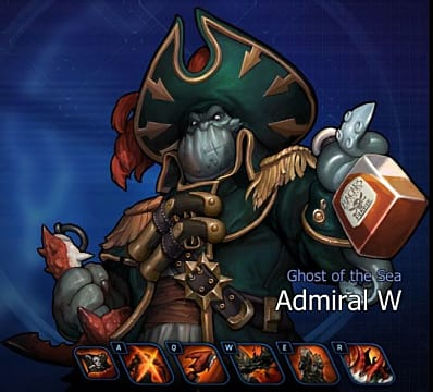 Admiral W, a character in Hyper Universe