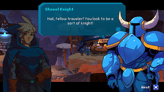 Shovel Knight in Aegis Defenders