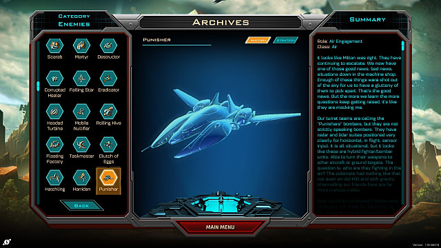 A punisher shown in a Siege of Centauri menu