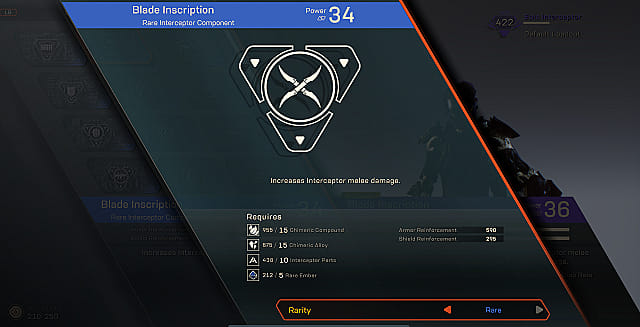 Anthem component crafting