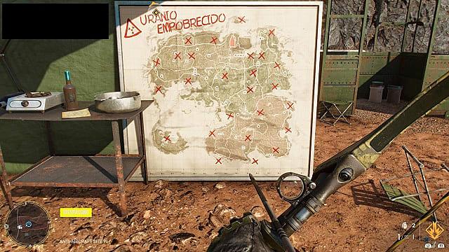 Map of all anti-aircraft guns in Yara.