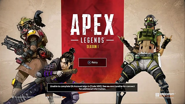 Apex Legends Error Code 100 Potential Fix | Apex Legends