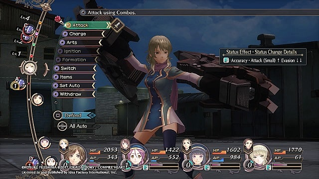 dark rose valkyrie battle system