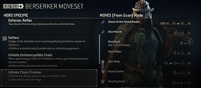 for honor berserker moves