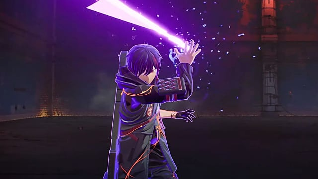 Yuito using a purple pyscho-kinetic ability.