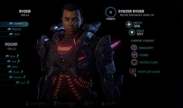Mass Effect Andromeda Best Ryder Build