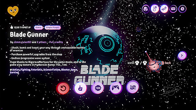 Blade Gunner is a lot like Resogun, one of the PS4's best shooters.