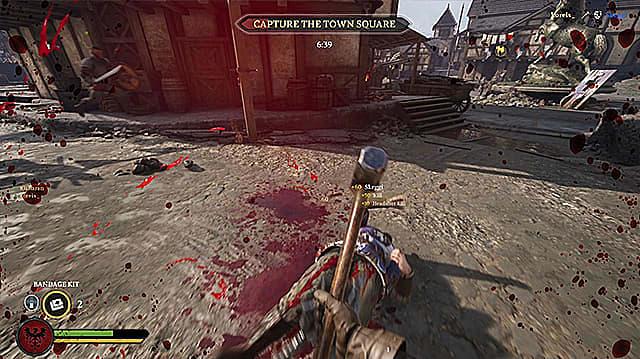 Aftermath of a bloody warhammer kill.