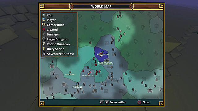 A map showing the location of the Blue Essence in the Deep Sea Dragon lair.