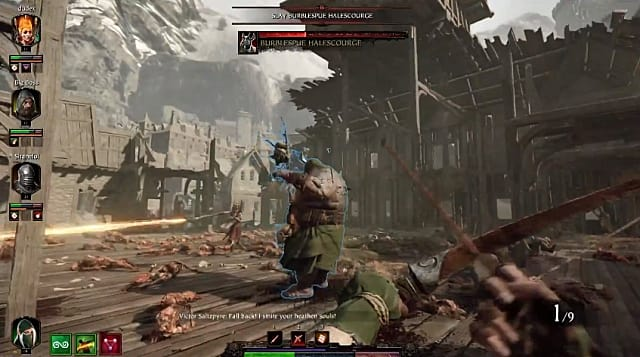 A very difficult boss in the Halescourge level of Vermintide 2