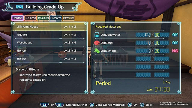 digimon world next order building upgrades