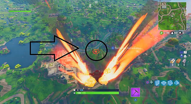 Just one of the Fortnite Bullseye locations