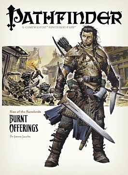 Valeros on the cover of the Pathfinder book