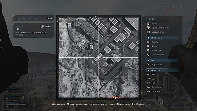 Fractured Intel 1 in-game location map military base southwest.