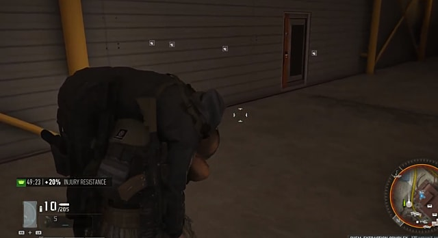 Carrying a dead body to unlock Ghost Recon: Breakpoint locked doors.