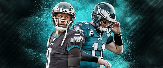Carson Wentz and Nick Foles
