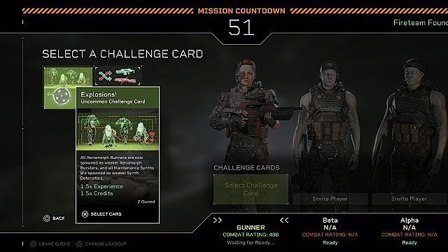 The campaign queue screen with the Explosions! challenge card highlighted.