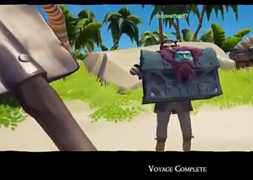 Picking up Chest Sorrow in Sea of Thieves