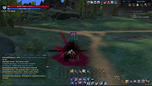 Screen shot from TERA