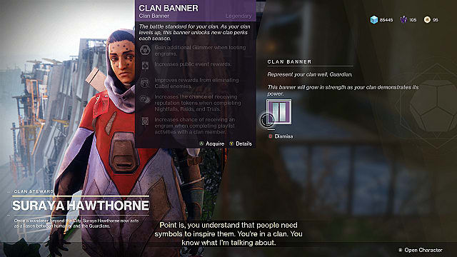 Destiny 2 clan perks