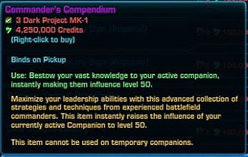 Commander's Compedium item