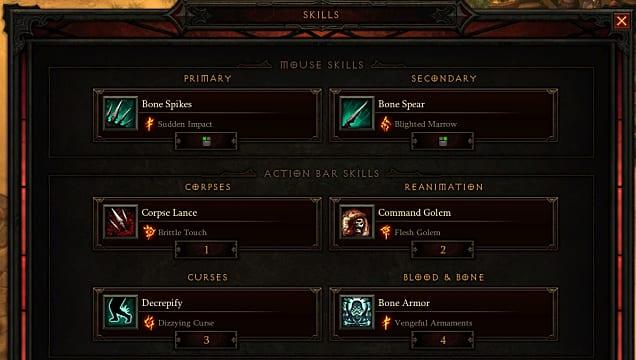 Build Necromancer Leveling Diablo