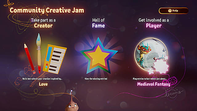Community Jams provide great opportunities for getting experience in Dreams.