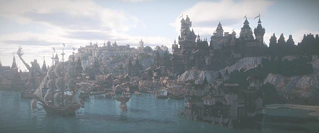 A port in Minecraft using Contiuum Shaders.