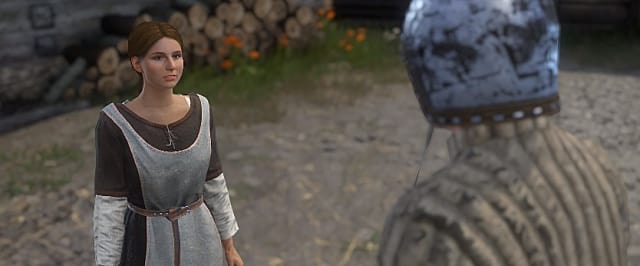 Player speaking to Theresa in Kingdom Come: Deliverance