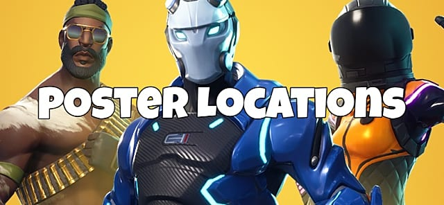fortnite poster locations complete challenge guide - fortnite season 4 omega herausforderung