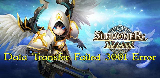 summoners war data transfer error