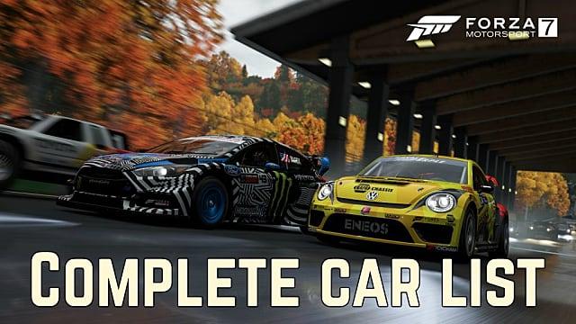 Complete Forza Motorsport 7 Car List