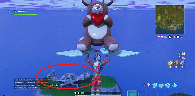 You can find the crab in Fortnite here