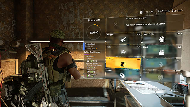 the division 2 how to upgrade the crafting bench